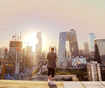 爬楼夜拍北京CBD