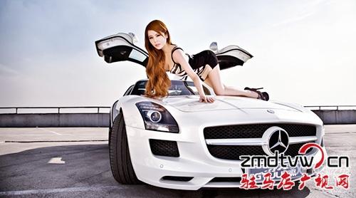 奔驰sls汽车大片摄影高清图片