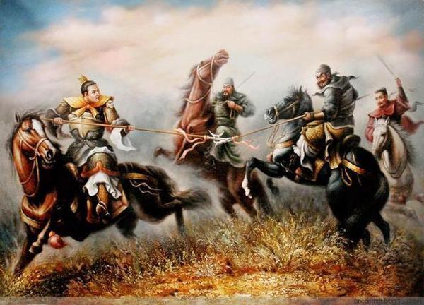 关羽张飞足以对付吕布,刘备功夫平平,冲上去干啥