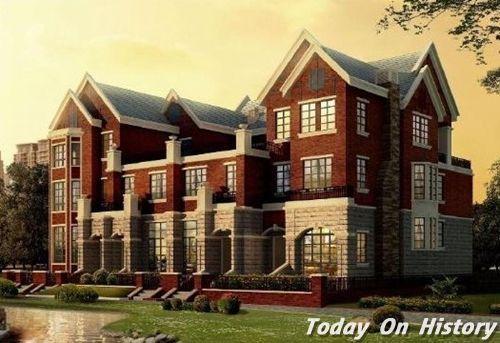 欧式红砖风格教学楼