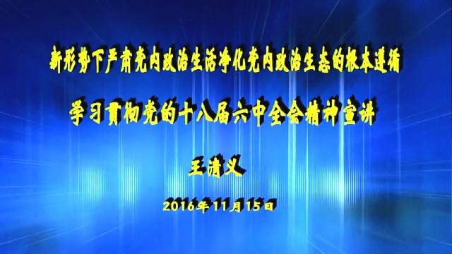 学习贯彻党的十八届六中全会(1)