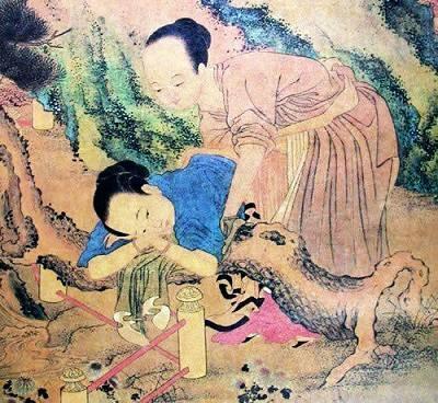 唐寅《鸳鸯秘谱》中春宫图作品-唐伯虎为什么要画这么多春宫图图片