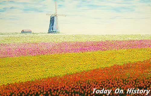 风车之国——荷兰 荷兰的风车风景