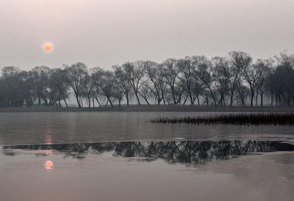 大雾把颐和园写成了诗