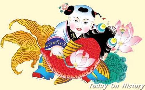 春节习俗之贴年画