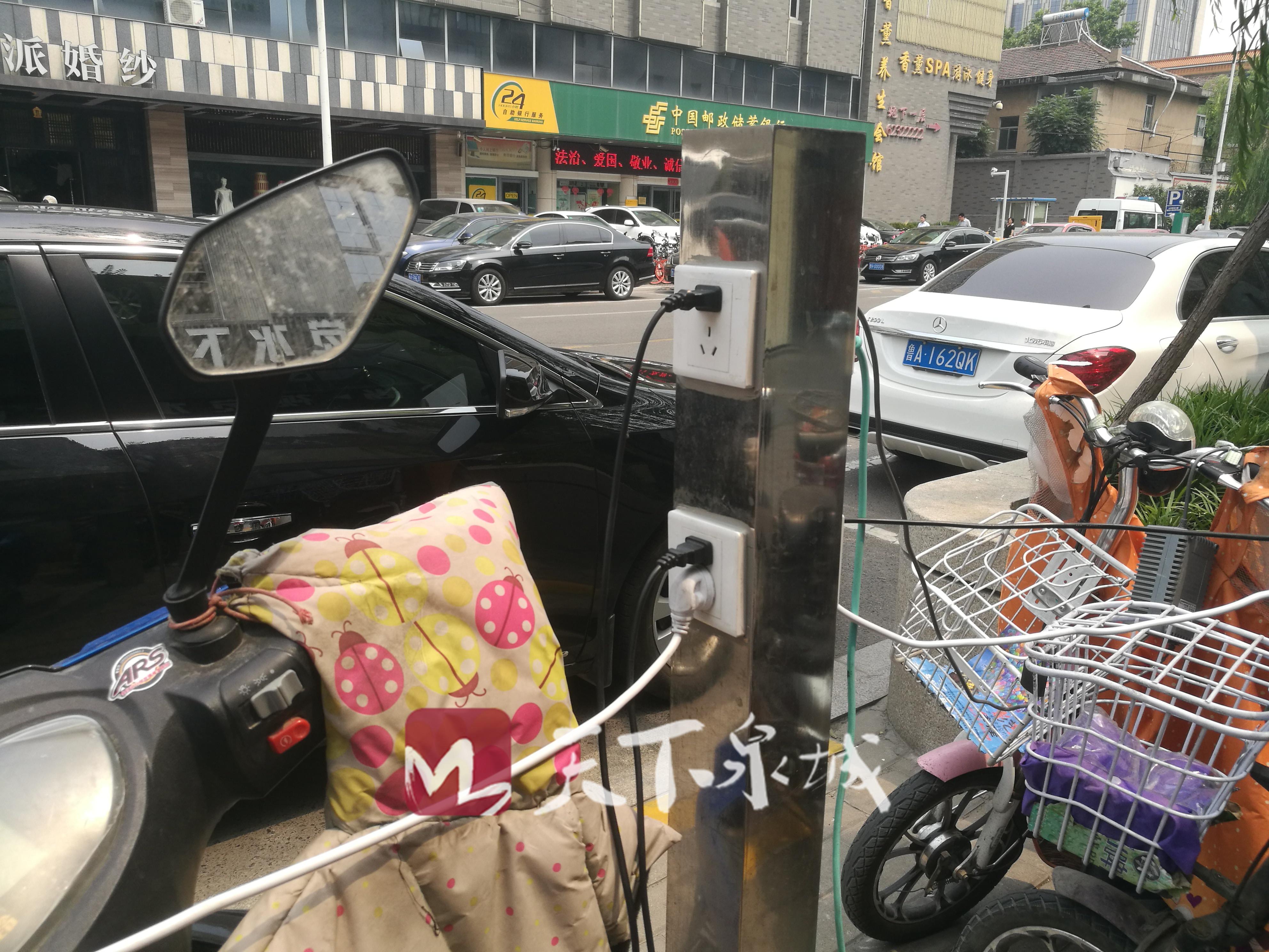 网传济南出现共享电动车充电桩 然而其中隐患重重!