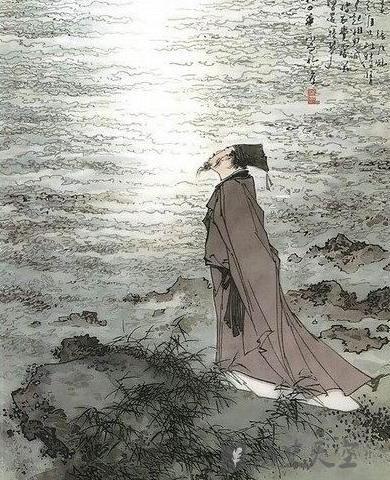 诗人望月背影简笔画