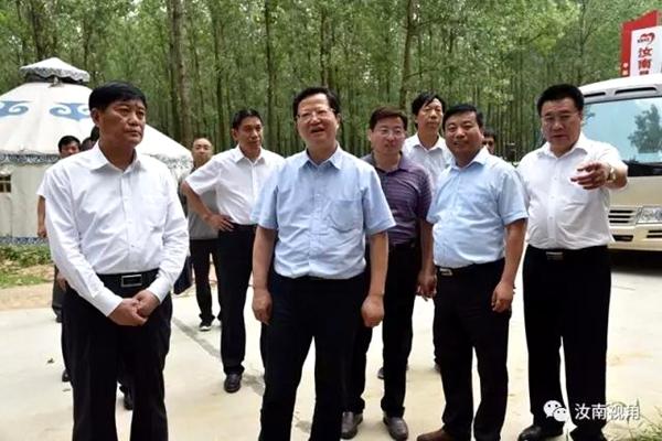 省纪委书记任正晓到汝南调研脱贫攻坚和党风廉政建设
