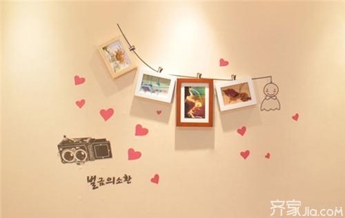 小清新文艺范儿 来看美美的照片墙