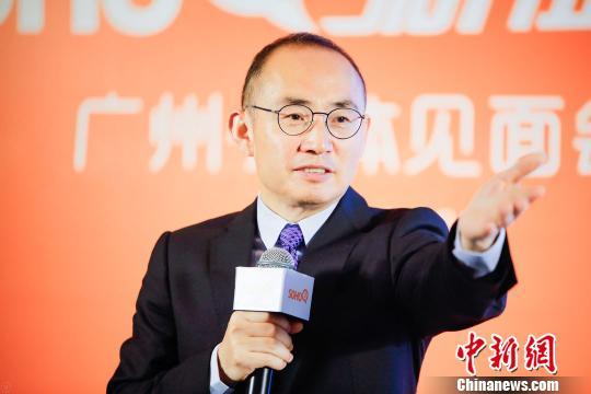 SOHO3Q新征程广州·媒体见面会20日在广州万豪酒店举行,图为SOHO中国董事长潘石屹。 唐贵江 摄