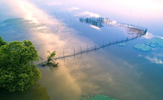 """""""如诗似画的横排头(又名丰源湖)风景区位于六安市区南20公里的苏家埠"""