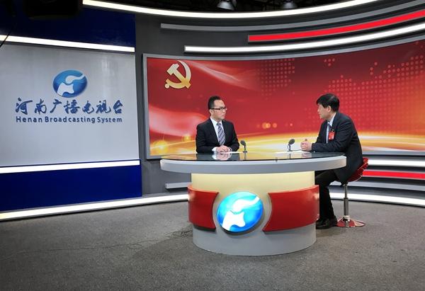 十九大党代表、驻马店市委书记余学友做客河南广播电视台北京演播室