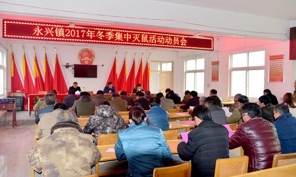 正阳县永兴镇开展冬季集中灭鼠活动