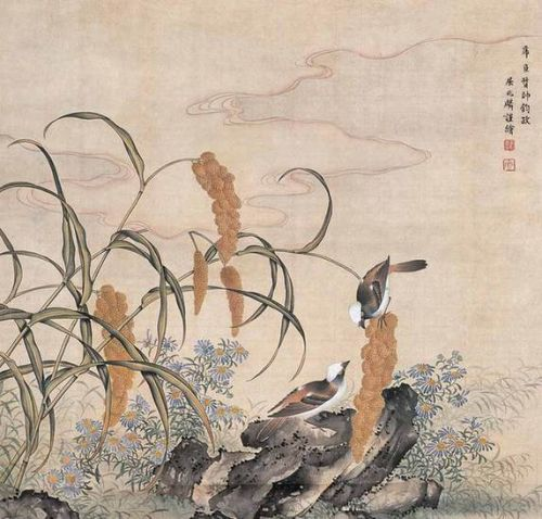 他的工笔画水平不弱于郎世宁,因此遵皇帝之嘱,常仿郎世宁的作品.