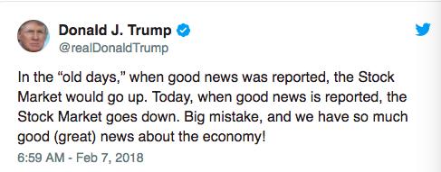 特朗普:经济这么好 现在卖股票就是大错特错!