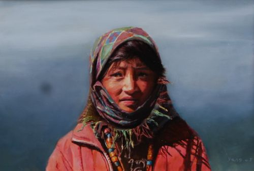12西藏女孩80x55cm