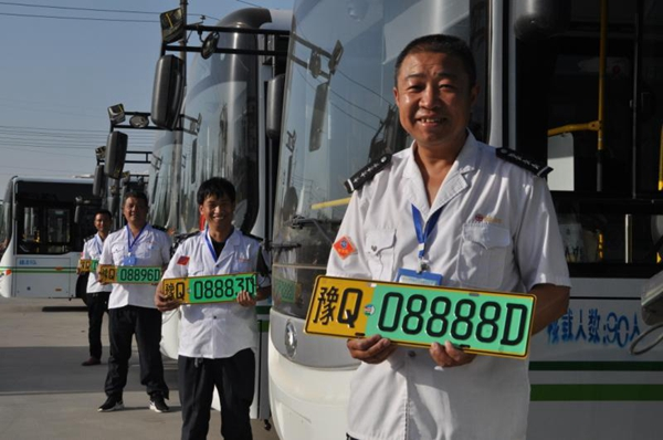 驻马店市新增160辆新能源真皮座椅公交车