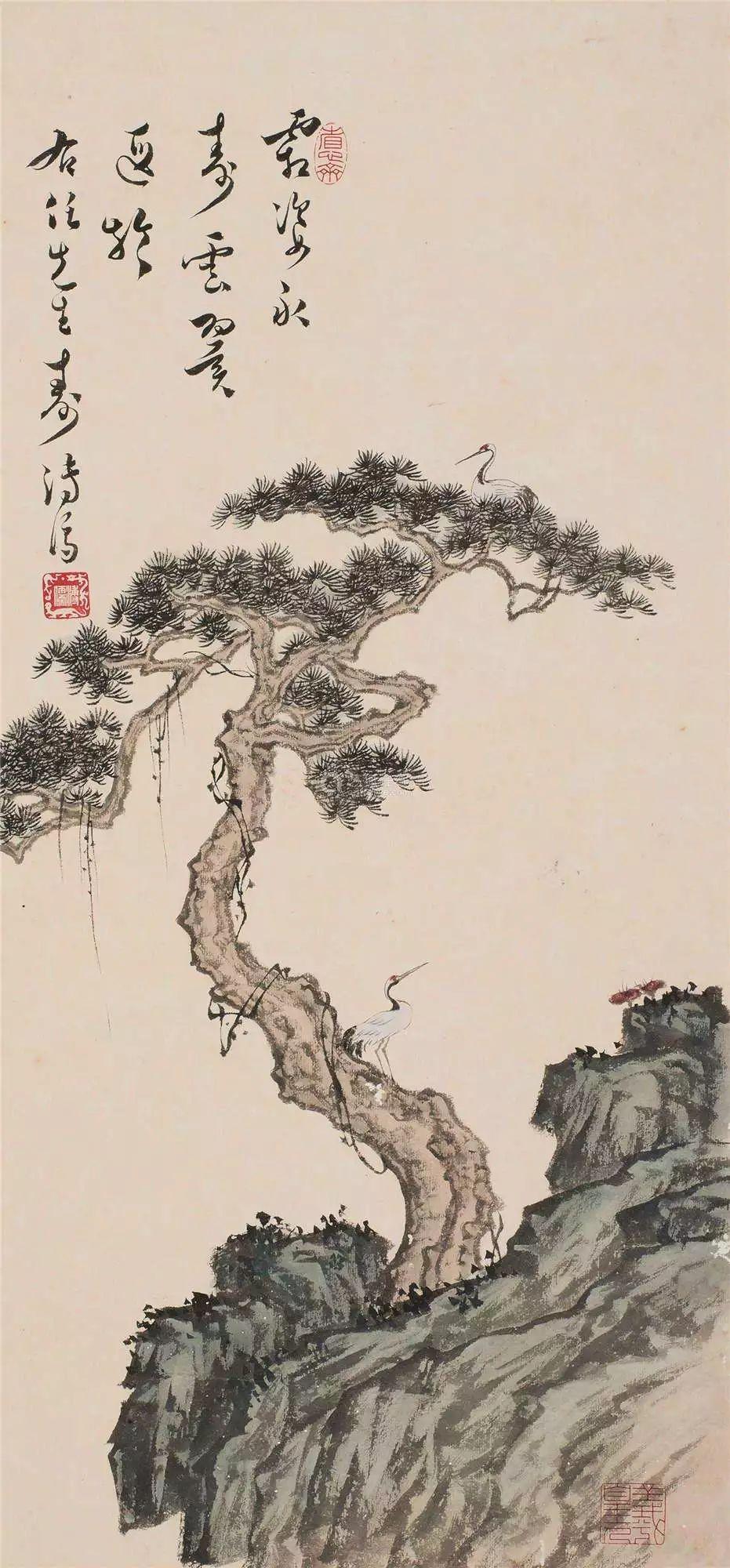 修身诗课 青松树杪千年鹤 白玉壶中一片冰