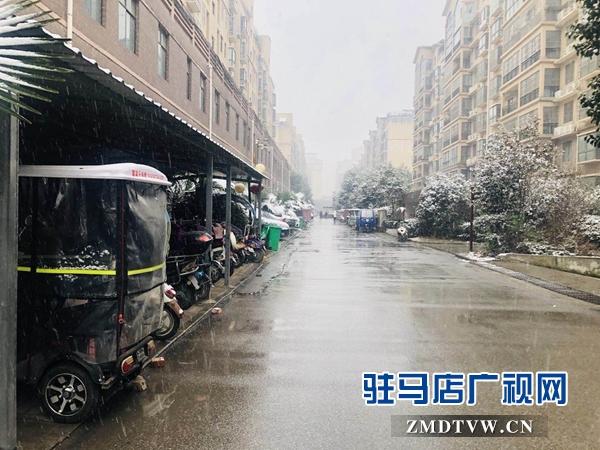 驻马店市迎来2019年第一场降雪