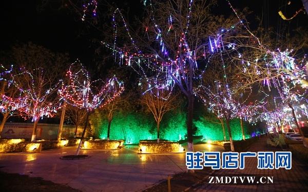 流光溢彩不夜城    亮化美化迎新年