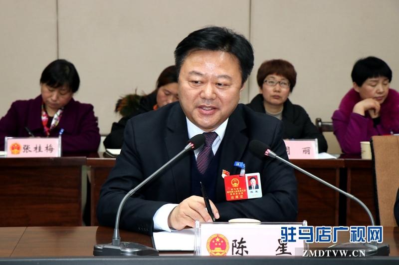 陈星参加上蔡代表团的审议政府工作报告时发言。