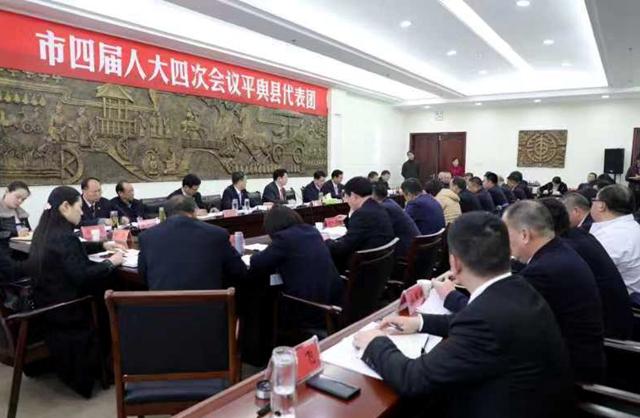 朱是西到平舆县代表团审议讨论政府工作报告