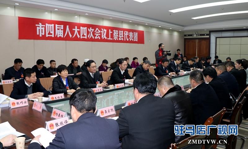 陈星参加上蔡代表团的审议政府工作报告,聆听代表发言
