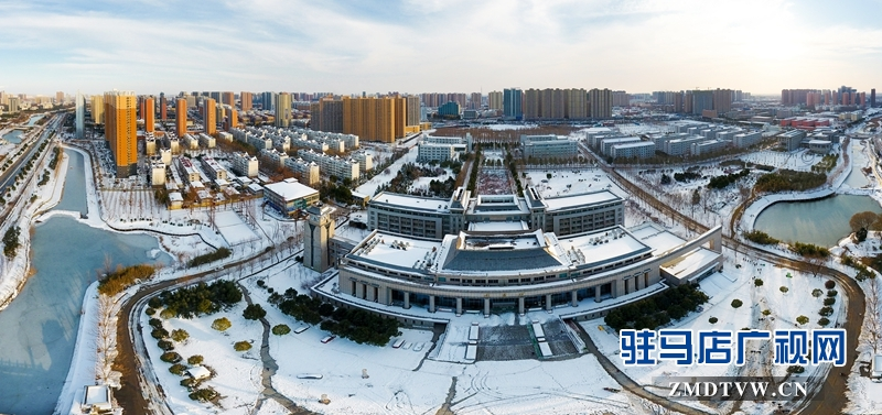 《黄淮雪景》 摄影/张新文