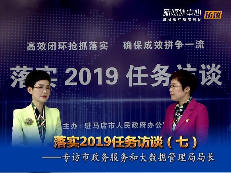 落实2019任务访谈--市政务服务和大数据管理局局长王静娴