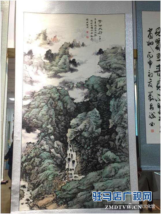 """汝南县文广旅游局举办""""光辉岁月70年""""书画展"""