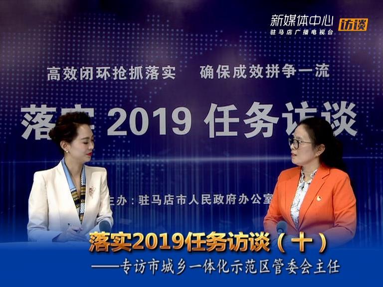 落实2019任务访谈--市城乡一体化示范区管委会主任马桂荣