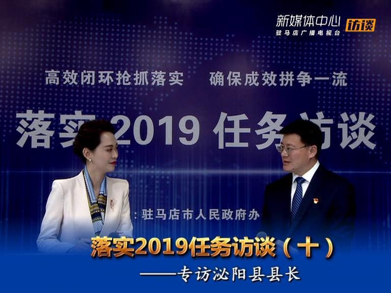 落实2019任务访谈--泌阳县人民政府县长魏华伟
