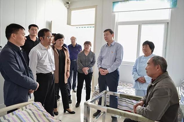 濮阳市台前县党政考察团到上蔡观摩脱贫攻坚工作