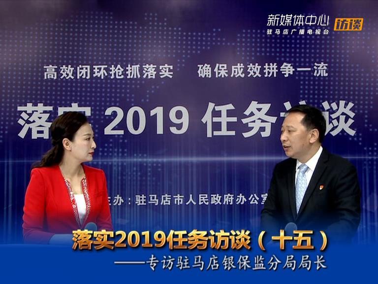 落实2019任务访谈--驻马店银保监分局局长张世翔