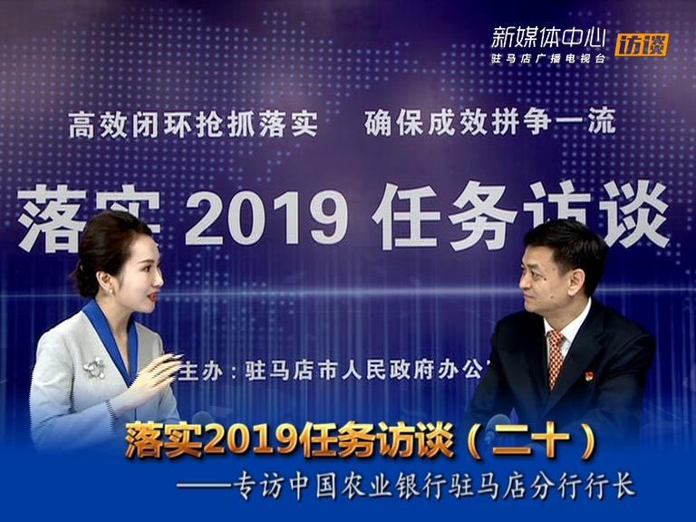 落实2019任务访谈--中国农业银行驻马店分行行长申松标