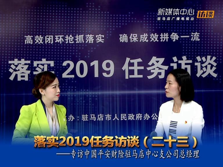 落实2019任务访谈--中国平安财险驻马店中心支公司总经理李红