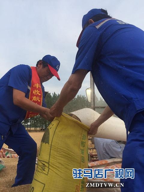 """中石化驻马店石油分公司共产党员服务队助力""""三夏""""保丰收"""