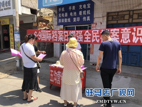 """西平县开展""""6•9国际档案日宣传活动"""