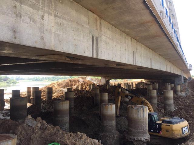 驻马店市区练江河大桥工程收尾 预计6月底完工