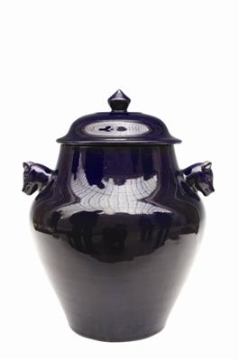 清代茄皮紫釉瓷器