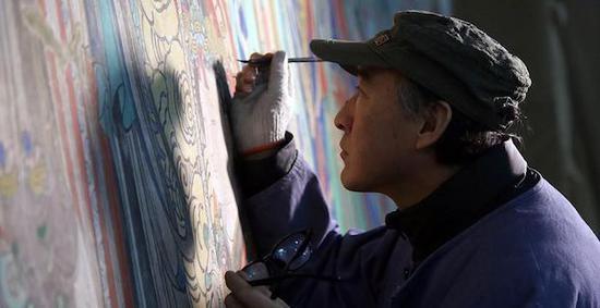 临摹流失海外壁画:有技法传承 也见文物修复之道