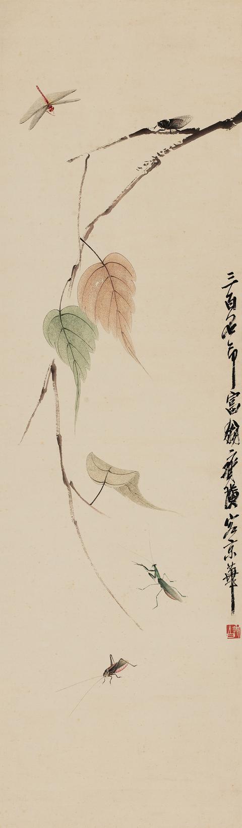 齐白石把草虫画的活灵活现、神形兼备