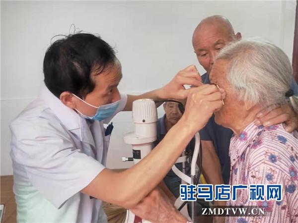 """新蔡尖峰眼科医院""""智志双扶""""走进顿岗乡"""