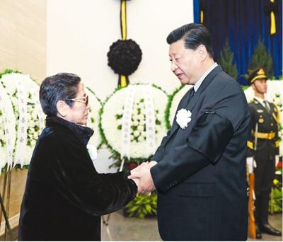 李鹏同志遗体在京火化 习近平等到八宝山革命公墓送别