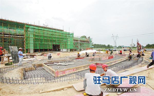 中国(驻马店)国际农产品加工产业园展示大厅建设进展顺利