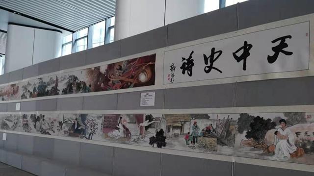 """""""天中史诗""""百米画卷尽显天中历史文化魅力"""