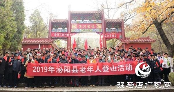 泌阳县举办老年人登山活动