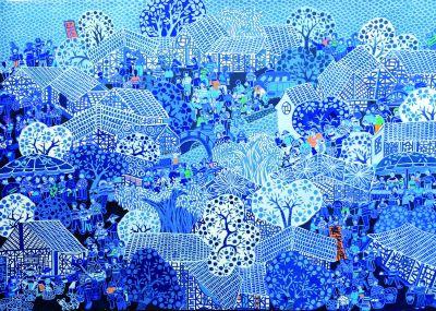 800人的村庄,300人是画家