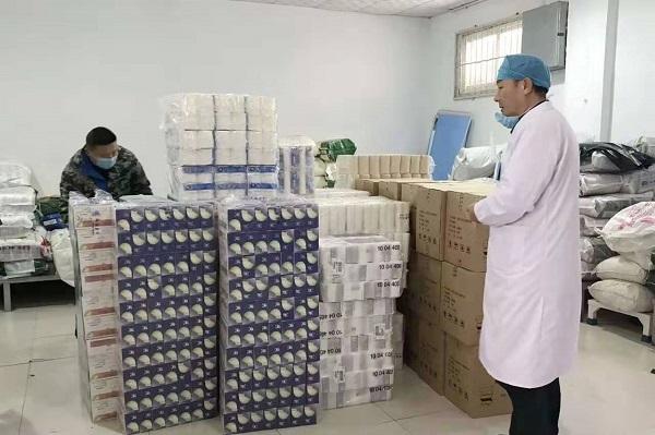 驻马店方舟纸业向市中心医院捐赠价值3万元的纸品物资