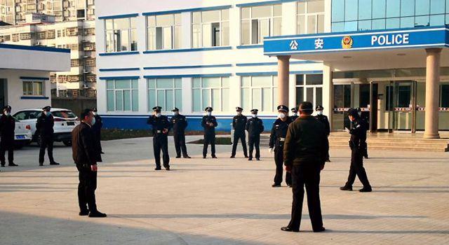 遂平县公安局灈阳派出所开展疫情处警演练